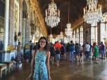 My first time in a real chateau! The Palace of Versailles is a crazy place.